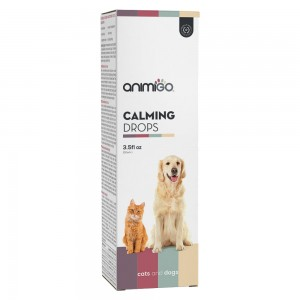 Gouttes Calmantes - Solution apaisante pour chiens & chats - Animigo - 3.5fl oz/100ml