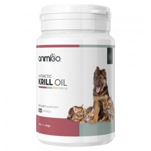 Huile de Krill - Capsule d'Oméga 3 pour le bien-être des chats et chiens - Animigo