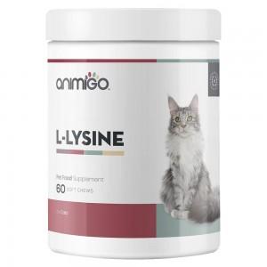 L-Lysine pour Chats - Aide naturelle au système immunitaire pour chats et chatons - Animigo