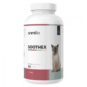 Soothex pour Chats - Complément alimentaire naturel calmant pour les chats - 60 Capsules